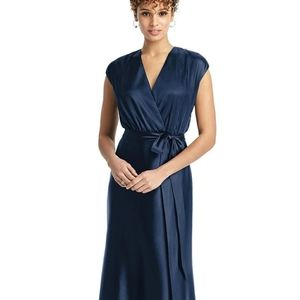Dessy Collection Charmeuse Trumpet Dress